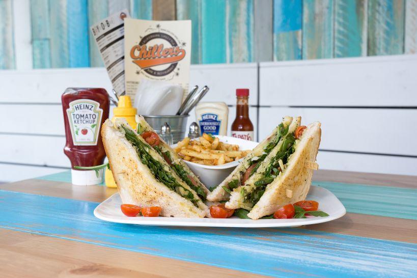 Kelly Sandwich mit einer Side French Fries