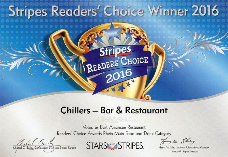 Stripes Readers Choice Winner 2016