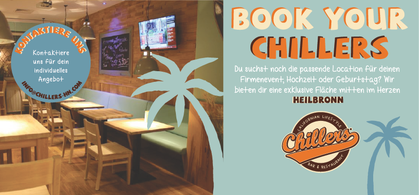 Book your CHILLERS