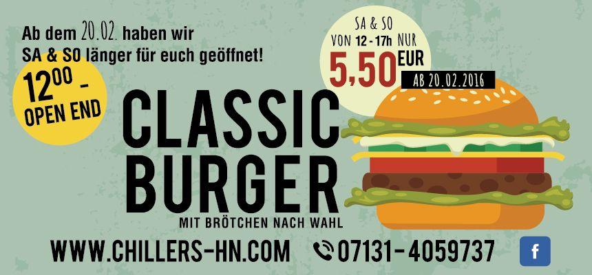 burger bar chillers burger in heilbronn startseite. Black Bedroom Furniture Sets. Home Design Ideas