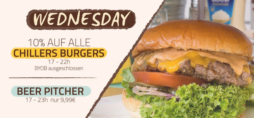 WEDNESDAY - BURGER DAY!
