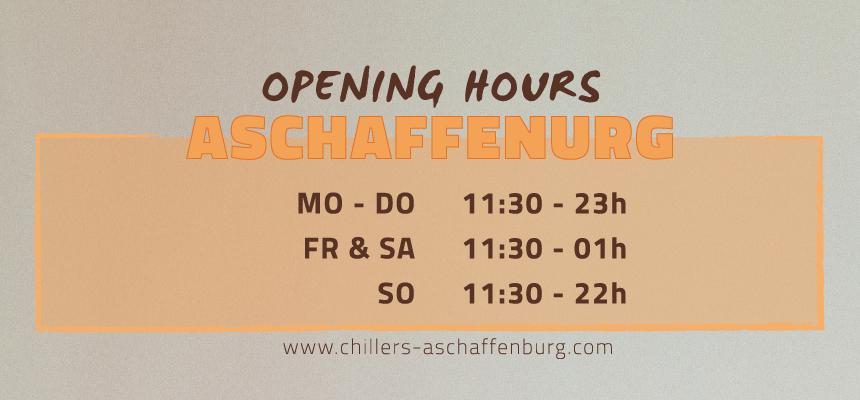 OPENING HOURS ASCHAFFENBURG